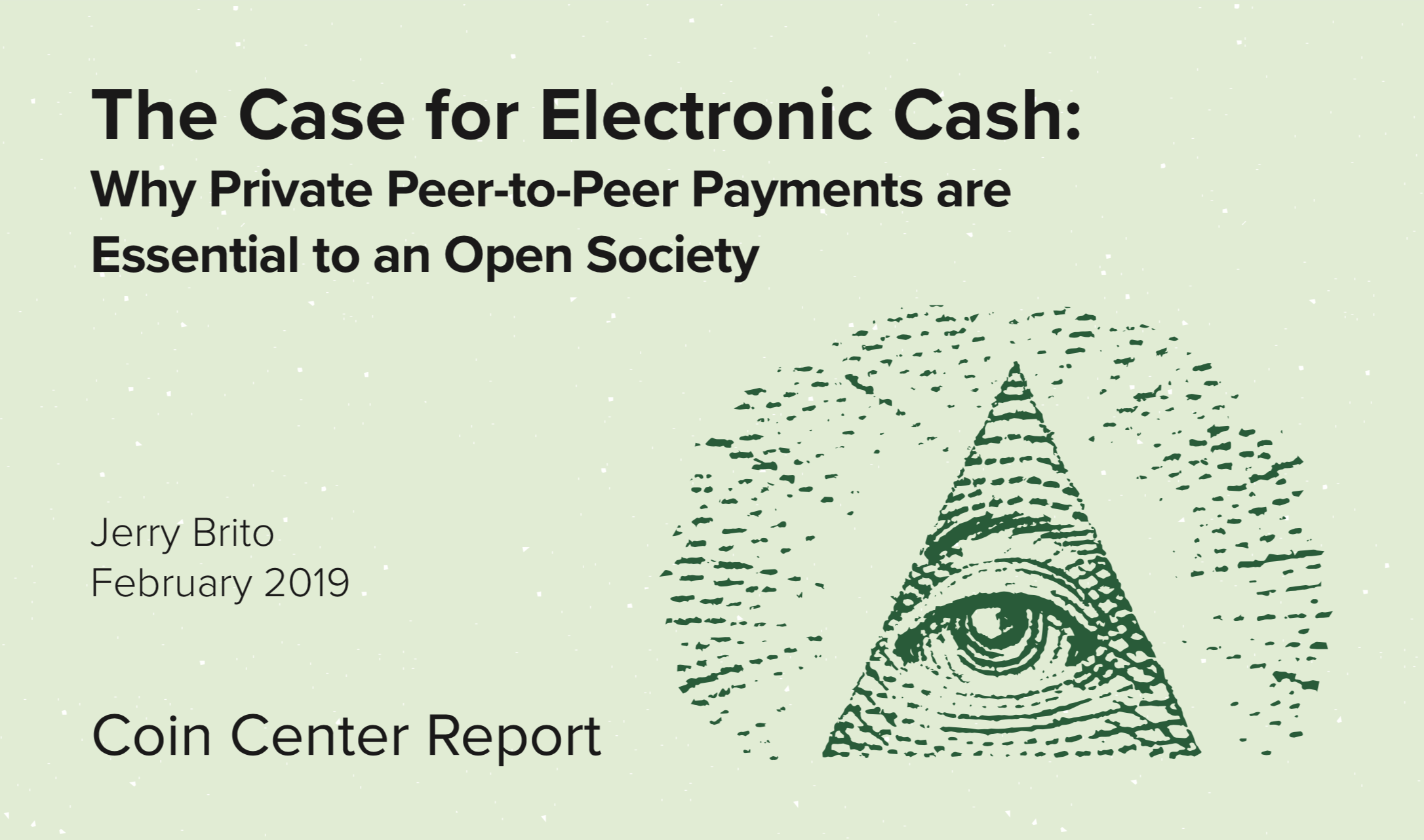 Report The Case for Electronic Cash